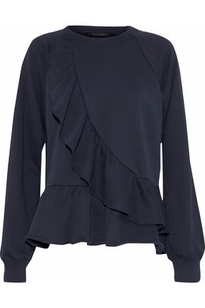 W118 by WALTER BAKER Galina ruffled cotton-blend terry sweatshirt