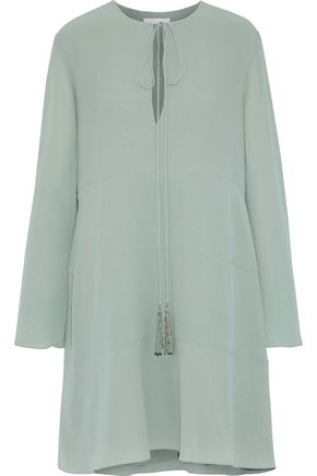 CHLOÉ Tasseled silk crepe de chine dress