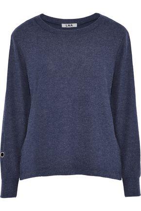 LNA Brushed Pier eyelet-embellished stretch-modal sweatshirt