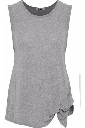 LNA Gathered slub jersey tank