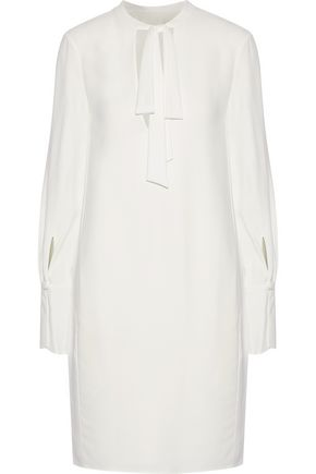 CHLOÉ Pussy-bow crepe dress