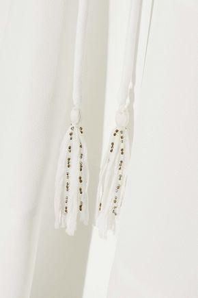 CHLOÉ Bow-detailed crepe dress
