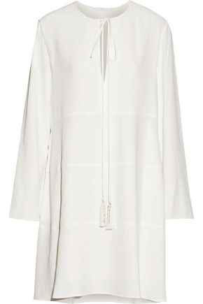 CHLOÉ Bow-detailed crepe dress