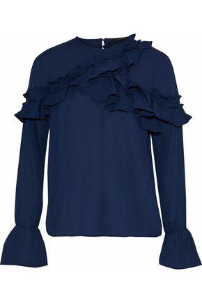 W118 by WALTER BAKER Elayne ruffled crepe de chine blouse