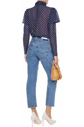 W118 by WALTER BAKER Angelica layered polka-dot chiffon blouse