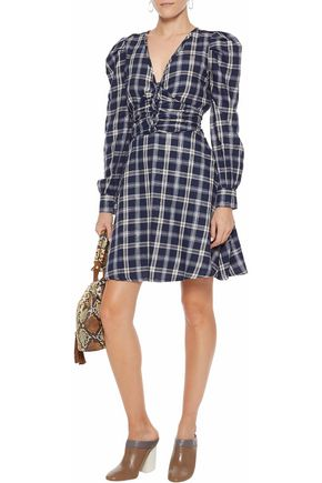 W118 by WALTER BAKER Nikol metallic checked cotton-blend twill mini dress
