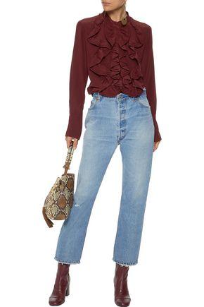 CHLOÉ Ruffled silk blouse
