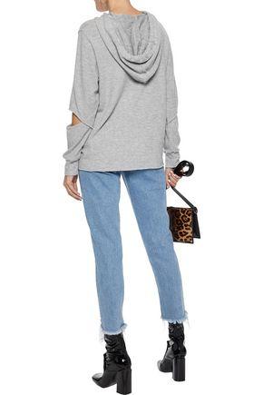 LNA Brushed Axel cutout stretch-Tencel hoodie