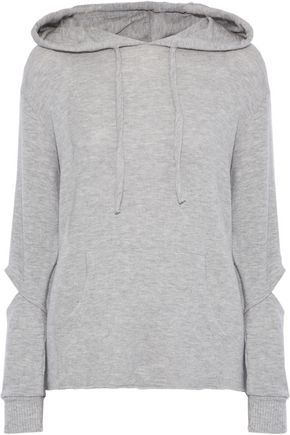 LNA Brushed Axel cutout stretch-Tencel hoodie