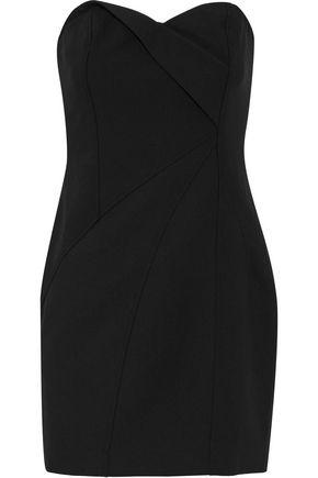 CINQ À SEPT Tristen strapless pleated cady mini dress