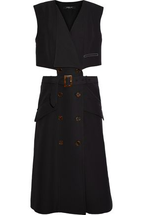 DEREK LAM Cutout cotton-twill dress