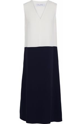 MAX MARA Netto two-tone crepe midi dress