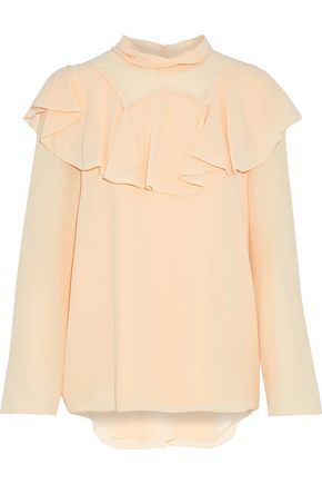 CHLOÉ Ruffled silk crepe de chine blouse