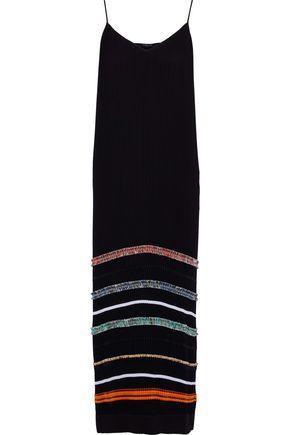 DEREK LAM Appliquéd plissé-chiffon maxi dress