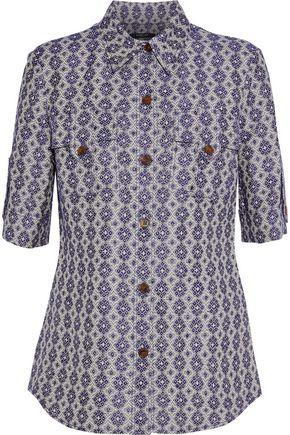 DEREK LAM Linen and cotton-blend jacquard shirt