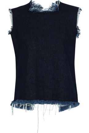 MARQUES' ALMEIDA Frayed denim top