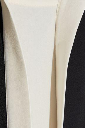 DEREK LAM Kara two-tone silk-crepe blouse