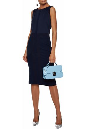 MAX MARA Jacquard-paneled twill and ponte dress