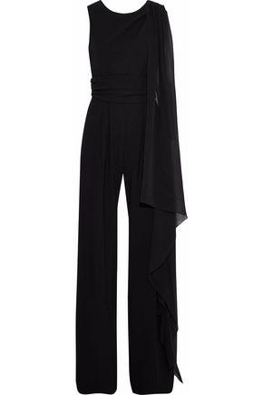 MAX MARA Radica draped chiffon-paneled cady jumpsuit