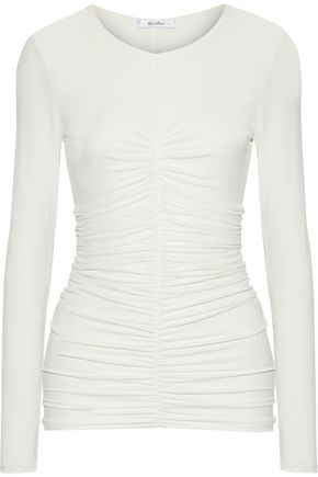 MAX MARA Harley ruched stretch-jersey top