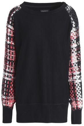 RAG & BONE Linton tweed and French cotton-terry sweatshirt