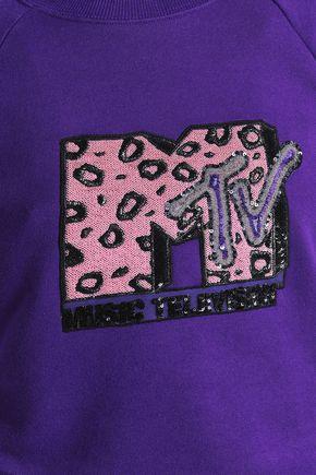 MARC JACOBS Appliquéd cotton-terry sweatshirt