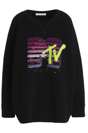 MARC JACOBS Sequined embroidered fleece sweatshirt