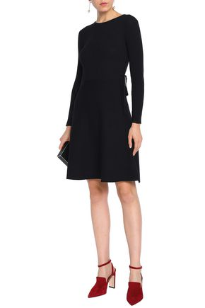 RAOUL Lace-up ribbed cotton dress