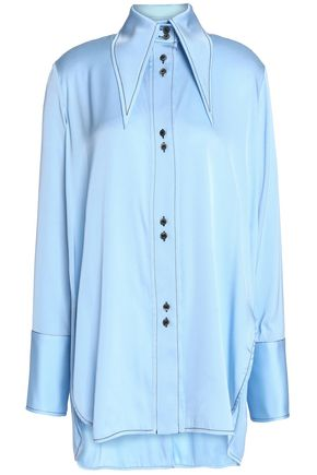 ELLERY Bilbao cutout silk-blend satin shirt