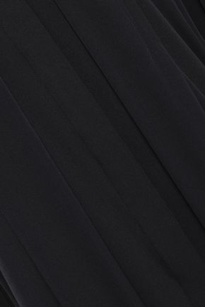 ELLERY Draped silk-blend shirt