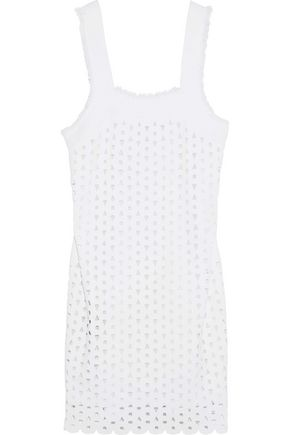 DEREK LAM Laser-cut stretch-knit mini dress