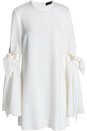ELLERY Thelma knotted cutout satin-crepe mini dress