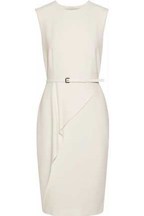 MAX MARA Ossola belted draped cady dress