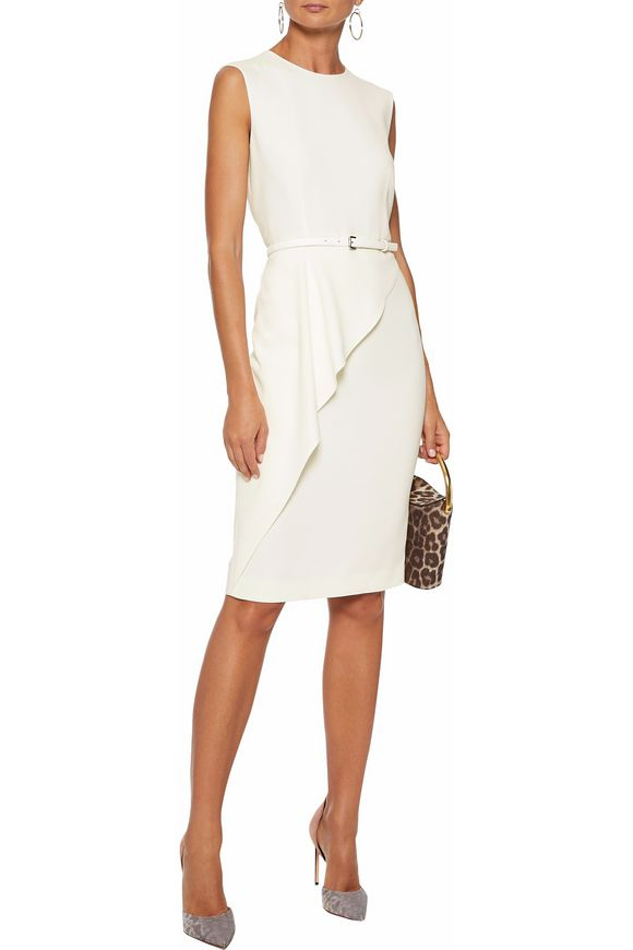 7d20dce806d589 Ossola belted draped cady dress | MAX MARA | Sale up to 70% off ...