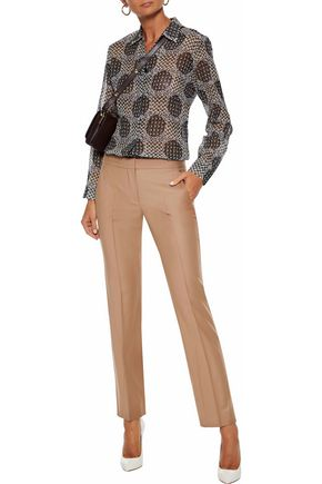 MAX MARA Printed silk-georgette shirt