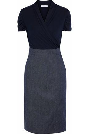 MAX MARA Zaffo wrap-effect stretch-jersey and twill dress