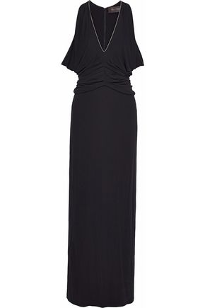 MAX MARA Cele ruched crepe gown
