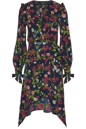 c683c834b6b1f1 W118 by WALTER BAKER Andrea draped floral-print crepe de chine dress