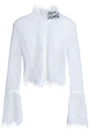 NICHOLAS Broderie anglaise turtleneck top