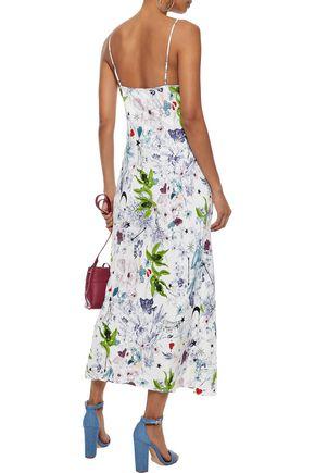CINQ À SEPT Emmalyn floral-print silk midi slip dress