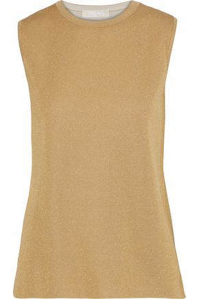 MAX MARA Filo metallic stretch-knit top