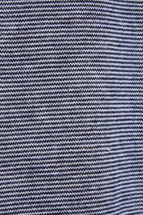 MAX MARA Stampa striped silk and cashmere-blend T-shirt