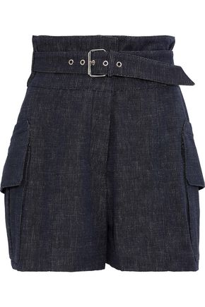 DEREK LAM Buckled denim shorts