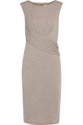 MAX MARA Gathered stretch-wool dress