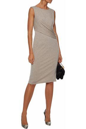MAX MARA Gathered stretch-wool dress
