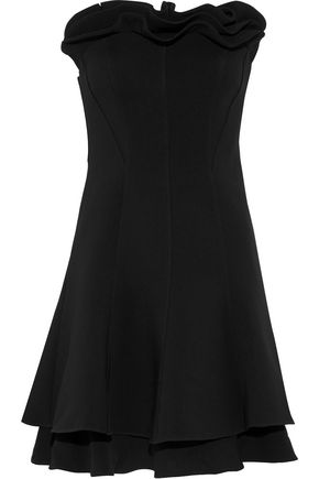 CINQ À SEPT Tansy strapless ruffled crepe mini dress