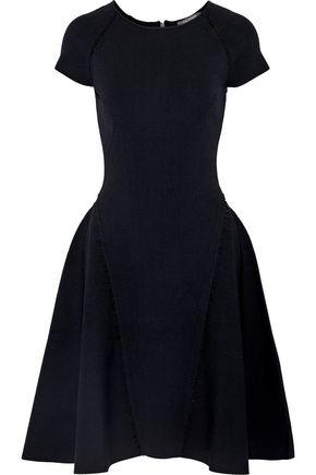 ZAC POSEN Cutout embellished stretch-ponte dress