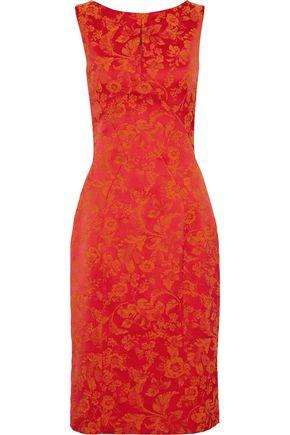 ZAC POSEN Satin-jacquard dress