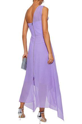 ROLAND MOURET Felcourt one-shoulder asymmetric silk-crepe gown