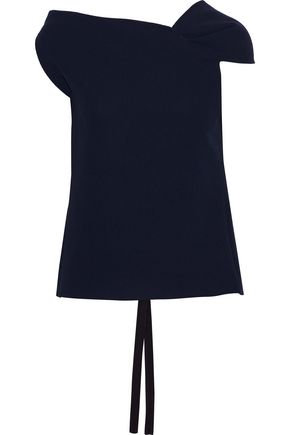 ROLAND MOURET Raywell draped wool-crepe top